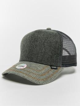 Djinns Trucker Caps Hft Jute Mix šedá