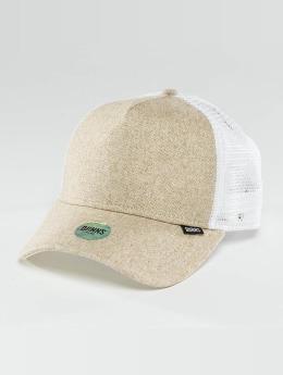 Djinns Trucker Caps Flannel bílý