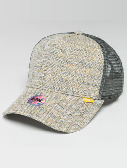 Djinns Trucker Caps Colored Linen grå
