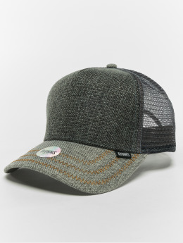 Djinns Trucker Caps Hft Jute Mix grå