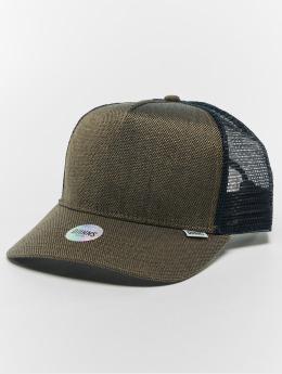 Djinns Trucker Caps Hft 2tone Oxford niebieski