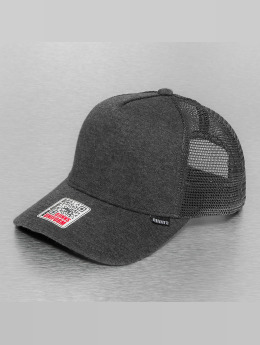 Djinns Cut & Sew High Fitted Trucker Cap Charcoal Heather