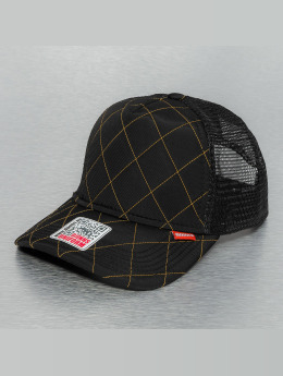 Djinns Hunter High Fitted Trucker Cap Black/Wheat