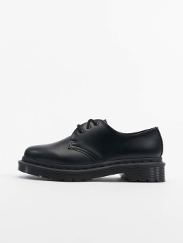 Dr. Martens Boots 1461 Mono 3-Eye Smooth Leather Low zwart