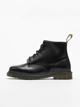 Dr. Martens Støvler 101 PW 6-Eye Smooth Leather Police sort