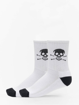 Famous Stars and Straps Chaussettes Skull blanc