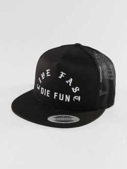 Famous Stars and Straps Trucker Cap Live Fast Die Fun black
