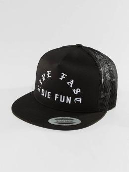 Famous Stars and Straps trucker cap Live Fast Die Fun zwart