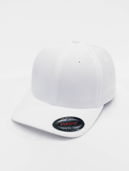 Flexfit Casquette Flex Fitted 3D Hexagon blanc