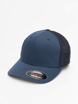 Flexfit Casquette Flex Fitted Mesh Cotton Twill bleu