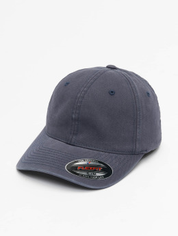 Flexfit Casquette Flex Fitted Garment Washed Cotton Dat bleu