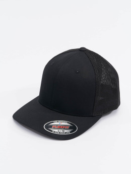 Flexfit Casquette Flex Fitted Mesh Cotton Twill noir