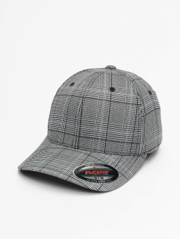 Flexfit Casquette Flex Fitted Glen Check noir