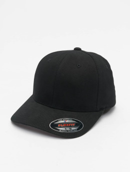 Flexfit Casquette Flex Fitted Twill Brushed noir