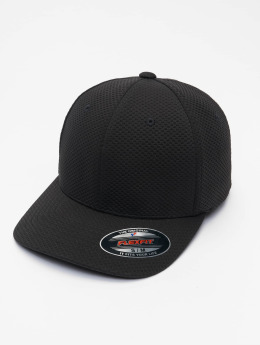 Flexfit Casquette Flex Fitted 3D Hexagon noir
