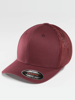 Flexfit Casquette Flex Fitted Mesh Cotton Twill rouge
