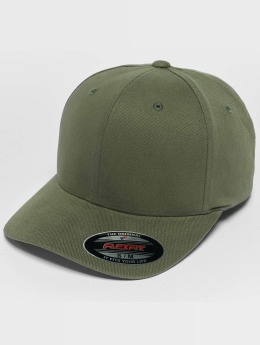 Flexfit Casquette Flex Fitted Twill Brushed vert