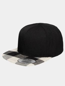 Flexfit Casquette Snapback & Strapback Cheched Flanell Peak noir
