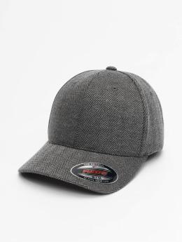 Flexfit Flexfitted Cap Heringbone Melange grau