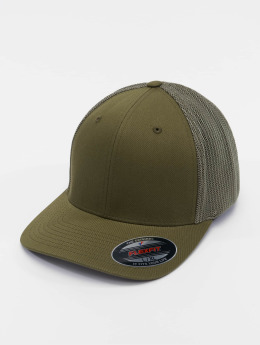 Flexfit Flexfitted Cap Mesh Cotton Twill olijfgroen