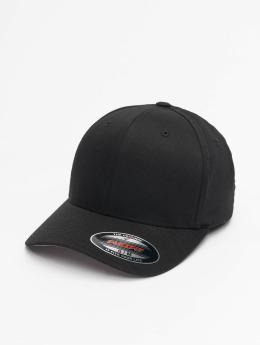 Flexfit Männer,Frauen Flexfitted Cap Wooly Combed in schwarz