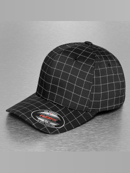 Flexfit Flexfitted Cap Square Check zwart