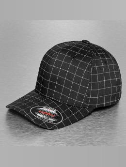 Flexfit Flexfitted Cap Square Check zwart