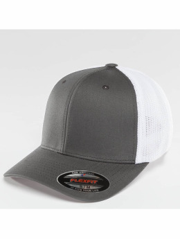 Mesh Cotton Twill Two Tone  ted Cap Dark Grey/White