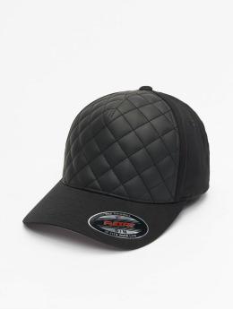 Flexfit Flexfitted-lippikset Diamond Quilted musta