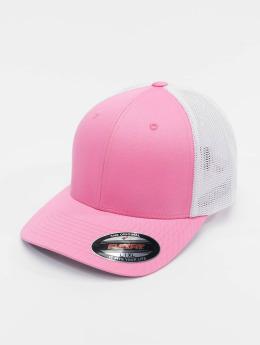Flexfit Flexfitted-lippikset Mesh Cotton Twill vaaleanpunainen