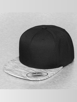 Flexfit Snapback Cap Stripes Melange Visor black