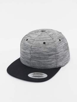 Flexfit Snapback Cap Stripes Melange Crown grau