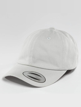 Flexfit Snapback Cap Peached Cotton Twill Dad grau