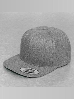 Flexfit snapback cap Melton Wool grijs