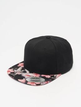 Flexfit Snapback Cap Floral  schwarz