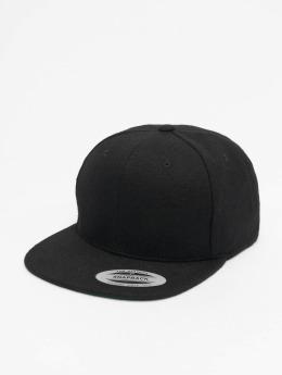 Flexfit Snapback Cap Melton Wool schwarz