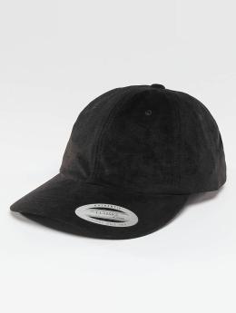 Flexfit Snapback Cap Low Profile Velours schwarz