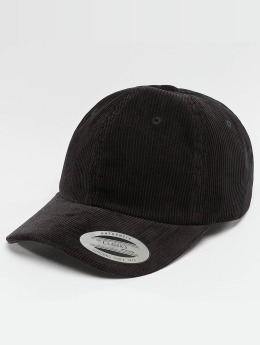Flexfit Snapback Cap Low Profile Corduroy Dad schwarz