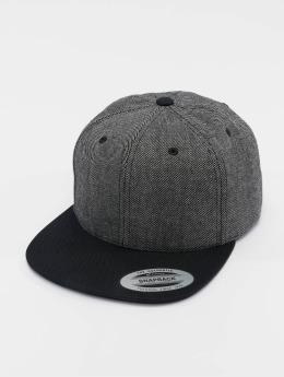 Flexfit Snapback Cap Solid Melange schwarz