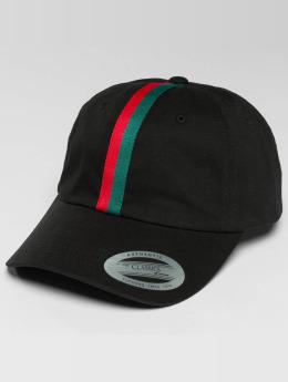 Flexfit Snapback Cap Stripe Dad schwarz