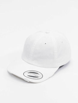 Flexfit Snapback Cap Low Profile Destroyed weiß