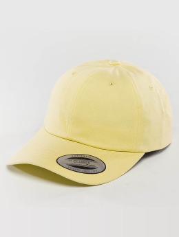Flexfit Snapback Caps Peached Cotton Twill keltainen