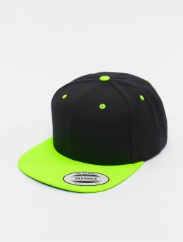 Flexfit Snapback Caps Classic Two Tone musta