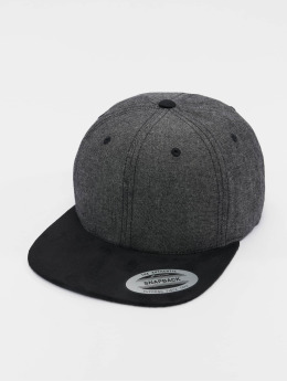 Flexfit Snapback Caps Chambray Suede musta