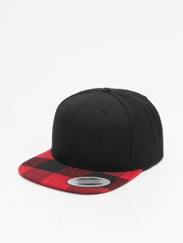 Flexfit Snapback Caps Cheched Flanell Peak musta