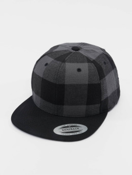 Flexfit Snapback Caps Checked Flanell musta