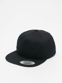 Flexfit Snapback Caps Classic 5 Panel musta