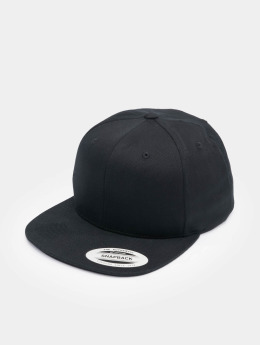 Flexfit Snapback Caps Organic Cotton musta