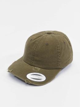 Flexfit Snapback Caps Low Profile Destroyed oliivi