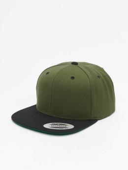 Flexfit Snapback Caps Classic Two Tone oliwkowy